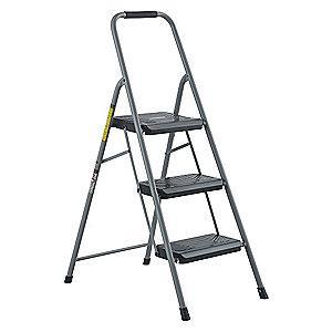 "Black & Decker Steel Folding Step, 47-1/8"" Overall Height, 200 lb. Load Capacity, 3 Steps"