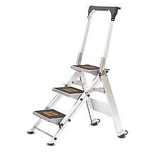 Little Giant Safety Step Stool,Alum,2-1/6ft H,300 lb