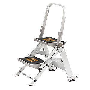 Little Giant Safety Step Stool,Alum,1-1/2ft H,300 lb