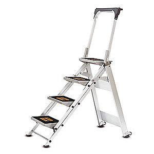Little Giante Safety Step Stool,Aluminum,3ft H,300 lb