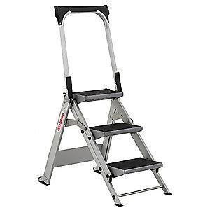 "Westward Aluminum Folding Step, 27"" Overall Height, 300 lb. Load Capacity, Steps: 3"