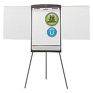 "Quartet Gloss-Finish Steel Dry Erase Board, Easel Mounted, Portable/Carry, 35""H x 27"""