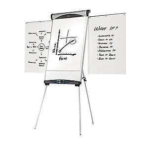 "Quartet Gloss-Finish Steel Dry Erase Board, Easel Mounted, Portable/Carry, 39""H x 27"""