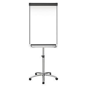 "Quartet Gloss-Finish Steel Dry Erase Board, Easel Mounted, Mobile/Casters, 38-1/4""H x 27""W, White"
