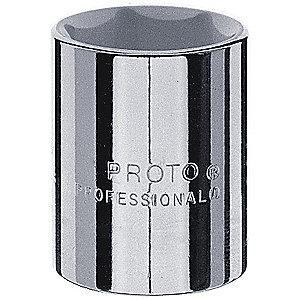 "Proto 1-3/8"" Alloy Steel Socket with 1/2"" Drive Size and Chrome Finish"