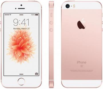 Apple iPhone SE 128GB SIM Free, Rose Gold