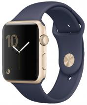 Apple Watch Sport 42mm Gold Aluminium Case with Midnight Blue Sport Band