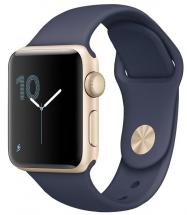Apple Watch Series 2 38mm Gold Case with Midnight Blue Sport Strap