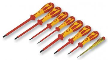 C.K Tools Dextro VDE Insulated Slotted/Philips Screwdriver Set - 8 Piece