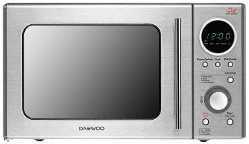 Daewoo 800W Stainless Steel Microwave with 1050W Grill & 20 Litre Capacity