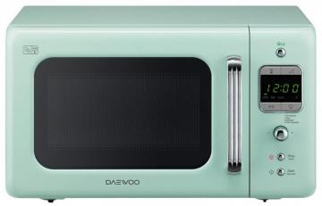 Daewoo 800W Microwave in Mint Green with 20L Capacity