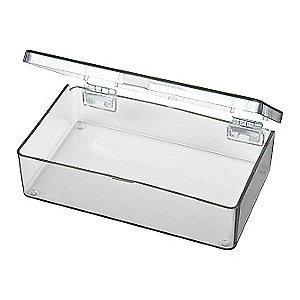 "Flambeau Storage Box, Clear, 1-1/16""H x 4-5/16""L x 2-5/8""W, 1EA"