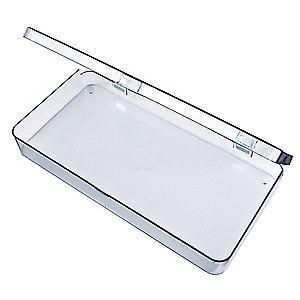 "Flambeau Storage Box, Clear, 1-11/16""H x 6-3/16""L x 12-3/16""W, 1EA"
