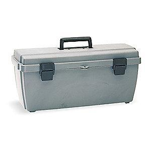 "Flambeau Copolymer Portable Tool Box, 10-1/2""H x 23"", Gray"
