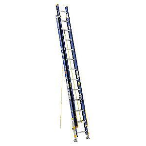 Werner 24 ft. Fiberglass Extension Ladder, 300 lb. Load Capacity, 62.0 lb. Net Weight