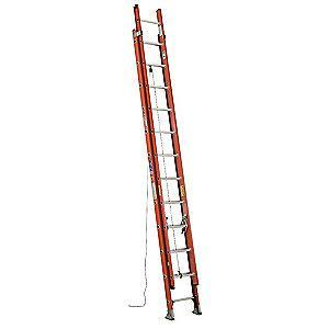 Werner 20 ft. Fiberglass Extension Ladder, 300 lb. Load Capacity, 44.5 lb. Net Weight