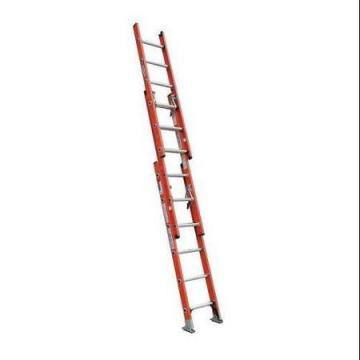 Werner 16 ft. Fiberglass Extension Ladder, 300 lb. Load Capacity, 40.5 lb. Net Weight