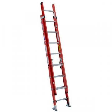 Werner 16 ft. Fiberglass Extension Ladder, 300 lb. Load Capacity, 36.5 lb. Net Weight