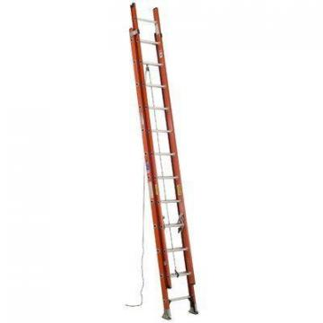 Werner 24 ft. Fiberglass Extension Ladder, 300 lb. Load Capacity, 46.0 lb. Net Weight