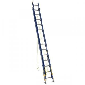 Werner 28 ft. Fiberglass Extension Ladder, 300 lb. Load Capacity, 70.0 lb. Net Weight