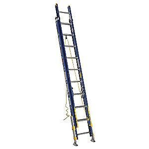 Werner 20 ft. Fiberglass Extension Ladder, 300 lb. Load Capacity, 54.0 lb. Net Weight