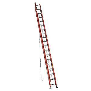Werner 36 ft. Fiberglass Extension Ladder, 300 lb. Load Capacity, 80.5 lb. Net Weight