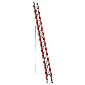 Werner 40 ft. Fiberglass Extension Ladder, 300 lb. Load Capacity, 88.5 lb. Net Weight