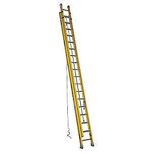 Werner 36 ft. Fiberglass Extension Ladder, 300 lb. Load Capacity, 113.0 lb. Net Weight