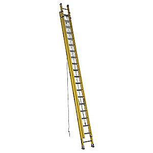Werner 40 ft. Fiberglass Extension Ladder, 300 lb. Load Capacity, 126.5 lb. Net Weight