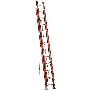 Werner 28 ft. Fiberglass Extension Ladder, 300 lb. Load Capacity, 53.0 lb. Net Weight