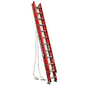 Werner 32 ft. Fiberglass Extension Ladder, 300 lb. Load Capacity, 81.0 lb. Net Weight