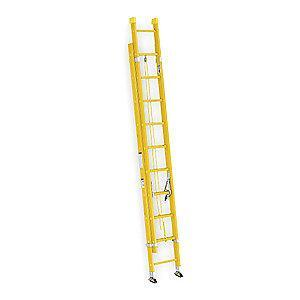 Werner 16 ft. Fiberglass Extension Ladder, 300 lb. Load Capacity, 41.0 lb. Net Weight