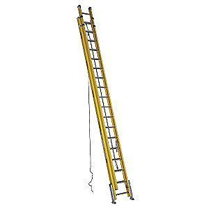 Werner 36 ft. Fiberglass Extension Ladder, 300 lb. Load Capacity, 121.0 lb. Net Weight