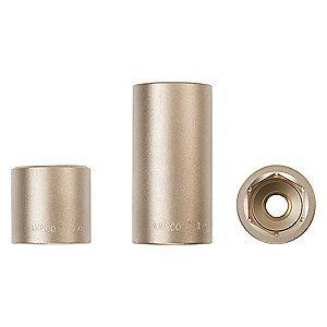 "AMPCO 13mm Aluminum Bronze Socket with 1/4"" Drive Size and Natural Finish"