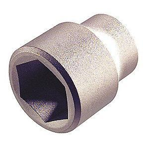 "AMPCO 25/32"" Aluminum Bronze Socket with 1/2"" Drive Size and Natural Finish"