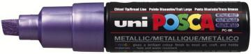 uni-ball Broad Chisel Tip Posca PC-8K Marker Pen - Metallic Violet