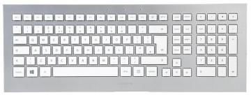 Cherry STRAIT Ultrathin USB Wired Keyboard, Silver