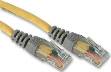 Belkin RJ45 Cat5e UTP Network Crossover Lead, 3m Yellow