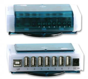 Pro Signal 7 Port USB 2.0 Hub with 1 Port Upstream - Mains Powered