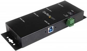 StarTech 4-Port Industrial USB 3.0 Hub - Wall Mountable Bus Powered