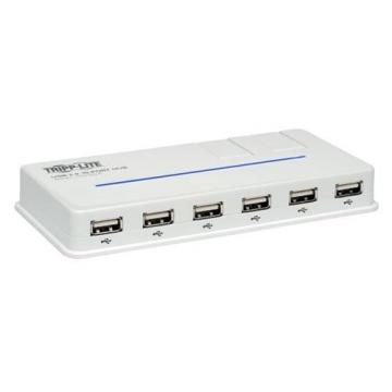 Tripp Lite 10-Port USB 2.0 Hub Hi-Speed w/2-Swivel Ports