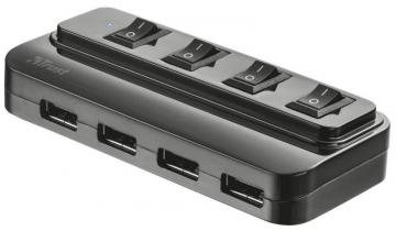 Trust 4-Port USB 2.0 Hub with Switches