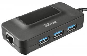 Trust Oila 3-Port USB 3.0 Hub with Network Port
