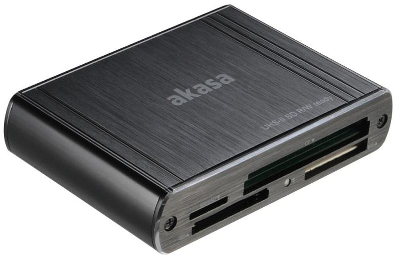 Akasa USB 3.0 Multi Memory Card Reader - UHS-II SD R/W Ready