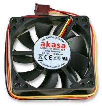 Akasa 12V DC 3 Pin Computer Case Auto Thermal Fan - 70 x 70 x 15mm