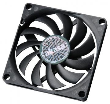 Akasa 12V DC 4 Pin Slimline PWM Fan - 80 x 80 x 10.8mm