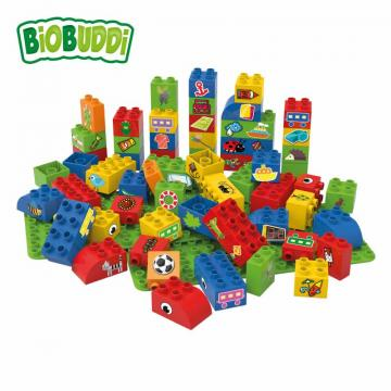 Biobuddi BLOCKS WITH 2 BASEPLATES building blocks