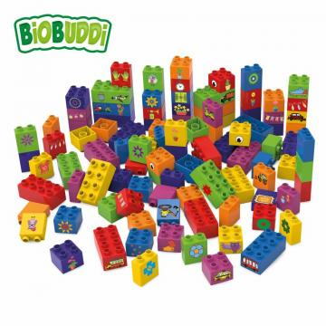 Biobuddi LEARNING TO BUILD 100 BLOCKS building blocks