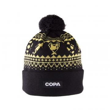 Copa Nordic Knit Beanie Black/Yellow