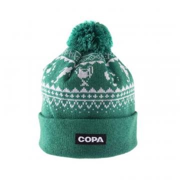 Copa Nordic Knit Beanie Green/White